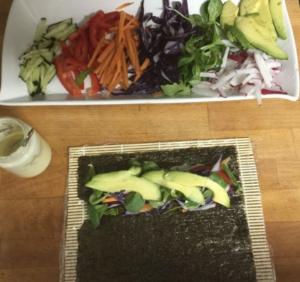 receta marta sitgar, alumna, escuela de cocina, sana, mallorca, el rincón de nana, virginia quetglas, alimentación, salud, algas, nori, verduras