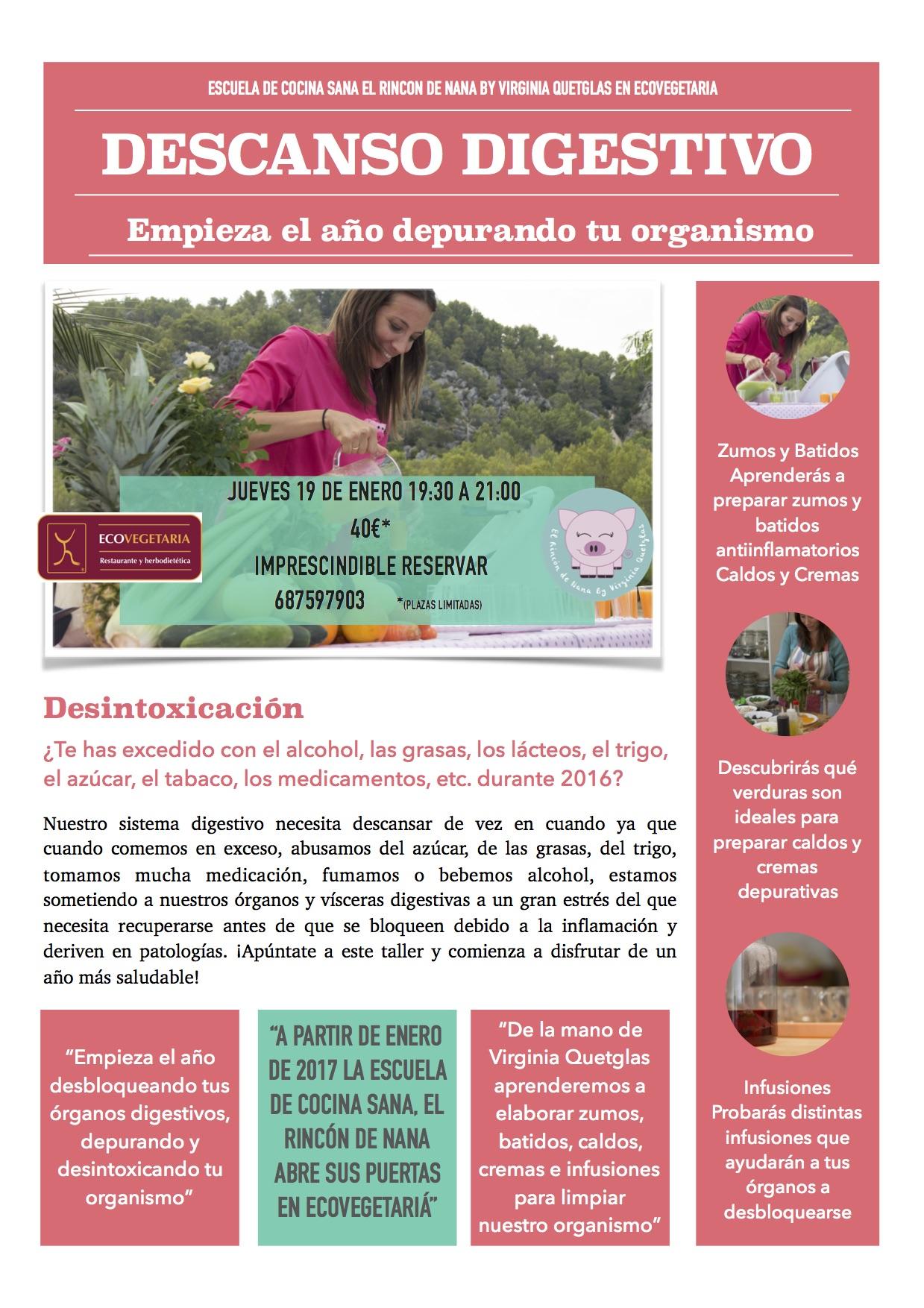 Taller descanso digestivo centro de naturopat a y for Escuela de cocina mallorca