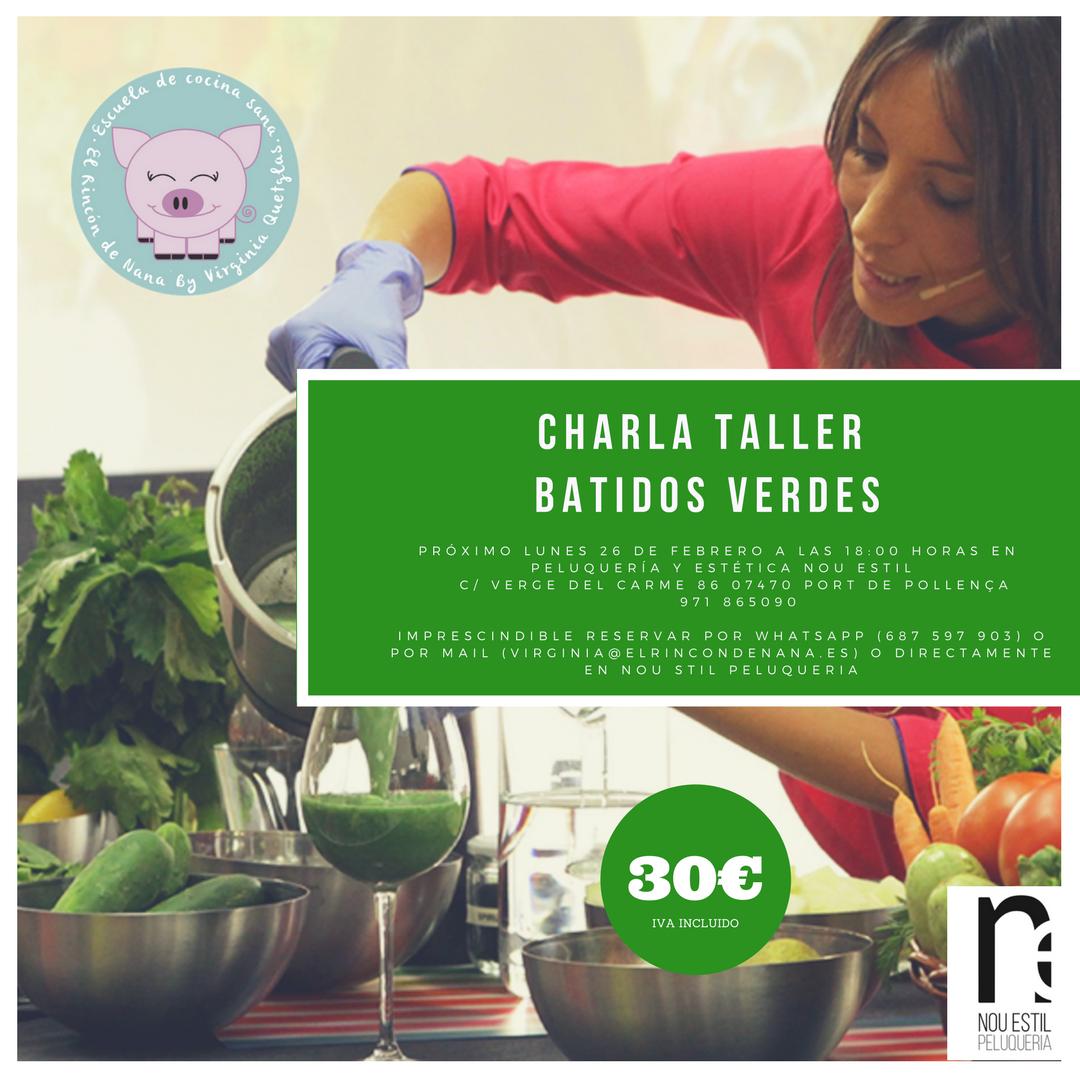 Charla taller batidos verdes centro de naturopat a y for Escuela de cocina mallorca